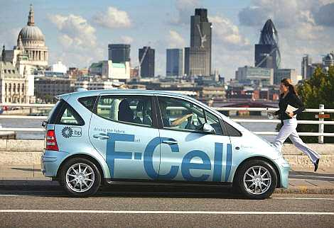 Hydrogen fuel cell car in London
