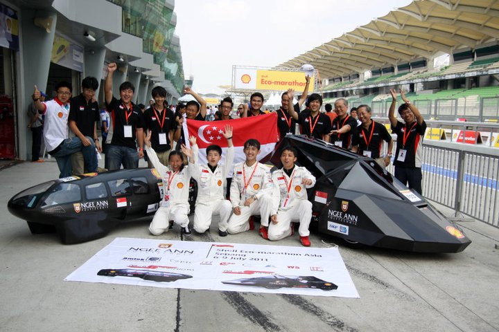 Singapore-built hydrogen cars take 1st place in both prototype and urban concept categories