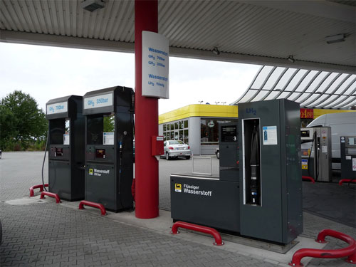 Franfurt fuel station hydrogen dispensers
