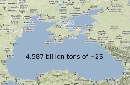 Reservoir of dissolved H2S in the Black Sea